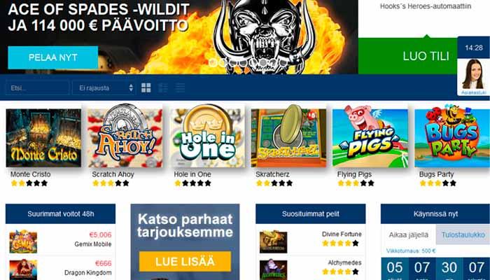 Finlandia casino bonukset
